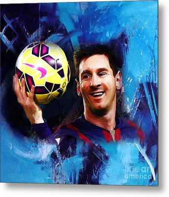 Lionel Messi 03d Metal Print by Gull G