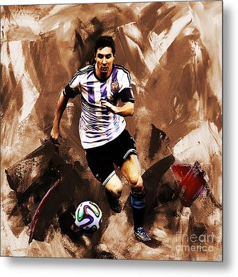 Lionel Messi 094 Metal Print by Gull G