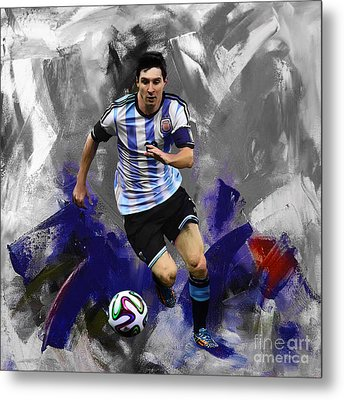 Lionel Messi 094a Metal Print by Gull G