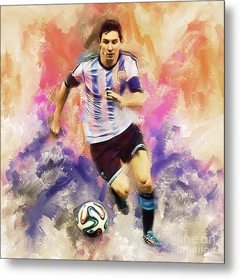 Lionel Messi 094c Metal Print by Gull G