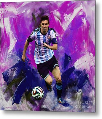 Lionel Messi 094g Metal Print by Gull G