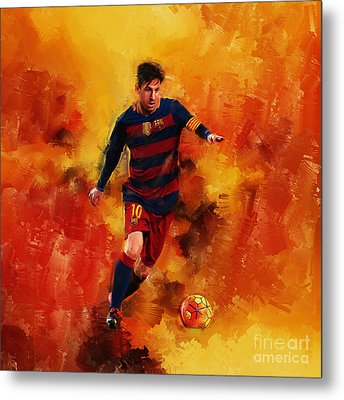 Lionel Messi Metal Print by Gull G