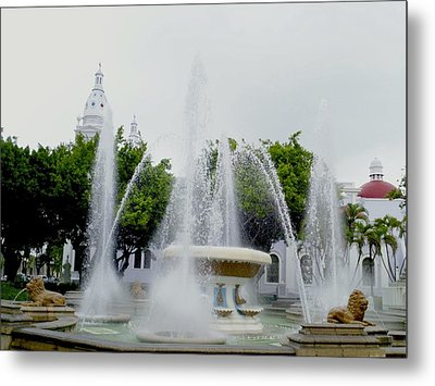 Lions Fountain, Ponce, Puerto Rico Metal Print