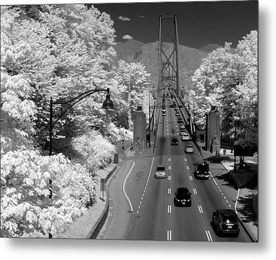Lions Gate Bridge Summer Metal Print by Bill Kellett