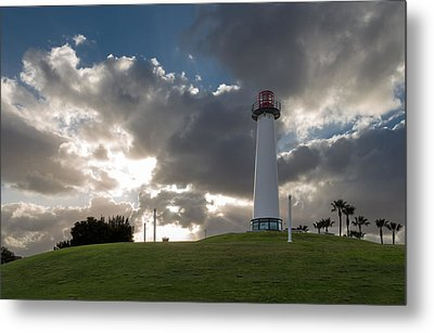Lion's Lighthouse For Sight - 2 Metal Print by Ed Clark