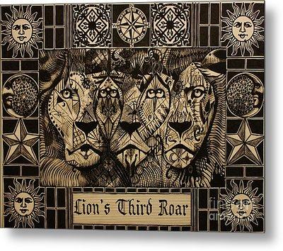 Lion's Third Roar Metal Print by Michael Kulick