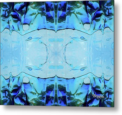 Metal Print featuring the digital art Liquid Abstract  #0059-2 by Barbara Tristan