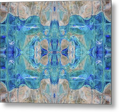 Metal Print featuring the digital art Liquid Abstract  #0060-1 by Barbara Tristan