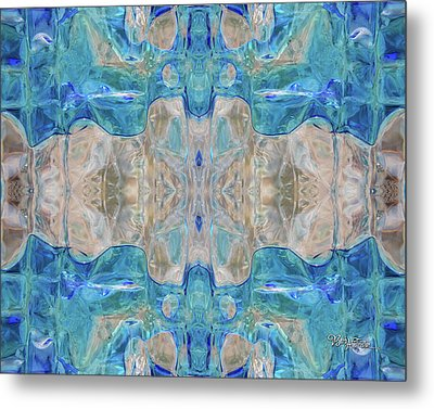 Metal Print featuring the digital art Liquid Abstract  #0060-2 by Barbara Tristan