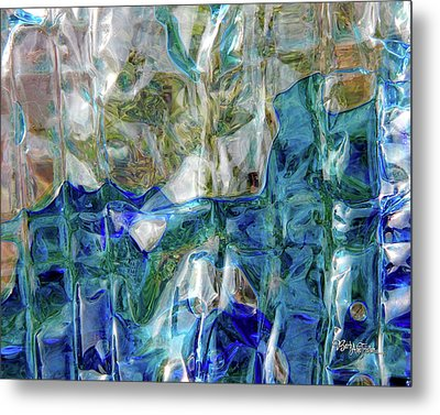 Metal Print featuring the photograph Liquid Abstract #0061 by Barbara Tristan