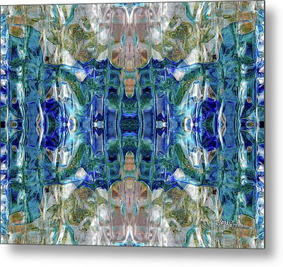 Metal Print featuring the digital art Liquid Abstract #0061_1 by Barbara Tristan