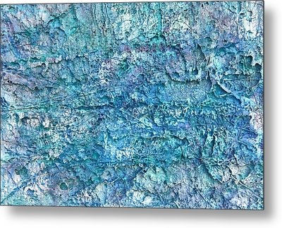 Metal Print featuring the painting Liquid Abstract #22617 by Robert Anderson