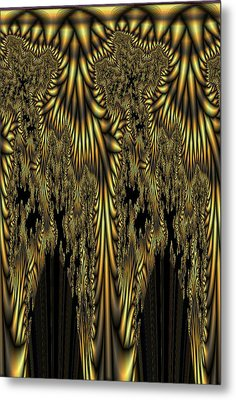Liquid Gold Metal Print by Digital Art Cafe