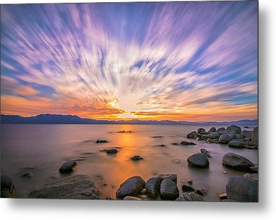 Liquid Gold Metal Print by Steve Baranek