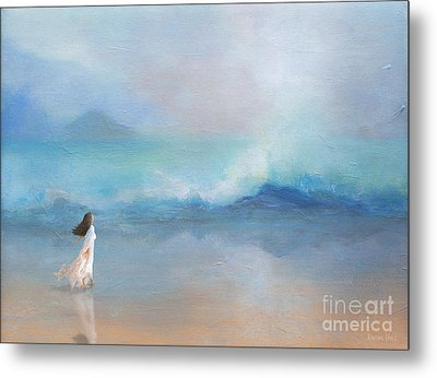 Liquid Silence Listening Metal Print by Korrine Holt