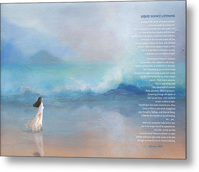 Liquid Silence Listening Poem Metal Print by Korrine Holt