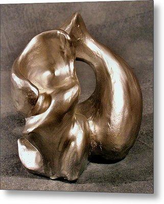 Liquid Silver Metal Print by Lonnie Tapia