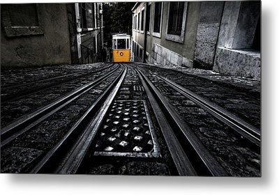 Lisbon Tram Metal Print by Jorge Maia
