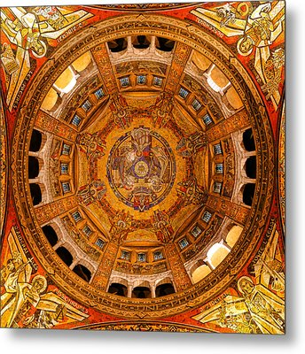 Lisieux St Therese Basilica Dome Ceiling Metal Print by Olivier Le Queinec