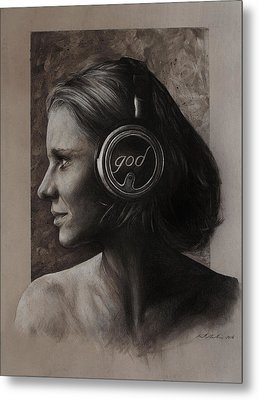 Listen 7 Metal Print