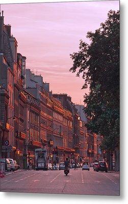 Lit Copper In Paris Metal Print