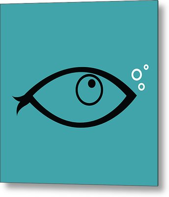 Little Fish In The Ocean Metal Print