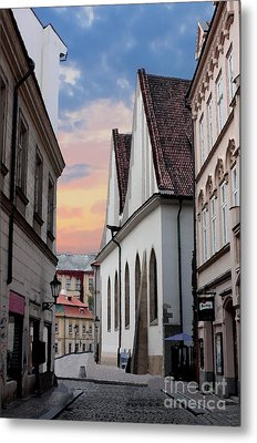 Little Alley In Prague Metal Print