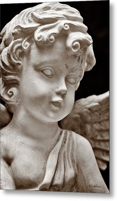 Little Angel - Sepia Metal Print by Christopher Holmes