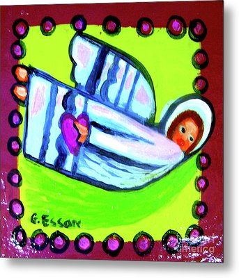 Little Angel With Heart Metal Print