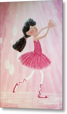 Little Ballerina Metal Print by Cheryl Rose
