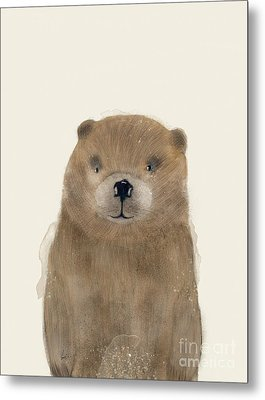 Metal Print featuring the painting Little Beaver by Bri B