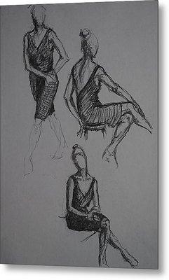 Little Black Dress X Three Metal Print by Chris  Riley
