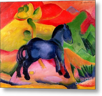 Little Blue Horse Metal Print by Franz Marc