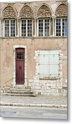 Metal Print featuring the photograph Little Brown Door by Melanie Alexandra Price