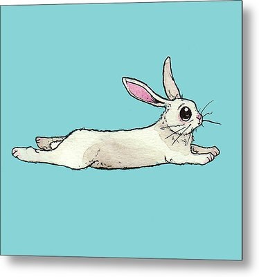 Little Bunny Rabbit Metal Print by Katrina Davis