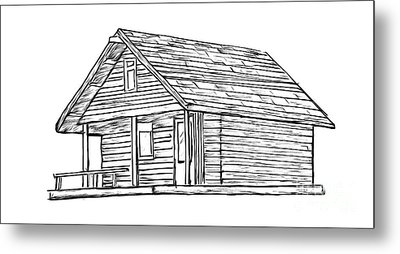 Little Cabin In The Woods Metal Print by Edward Fielding