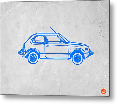 Little Car Metal Print by Naxart Studio