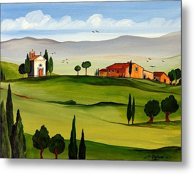 Metal Print featuring the painting Little Church by Roberto Gagliardi