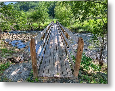 Metal Print featuring the photograph Little Country Bridge by Tim Stanley