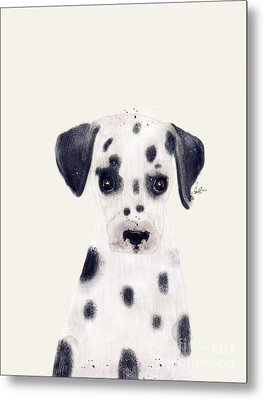 Metal Print featuring the painting Little Dalmatian by Bri B