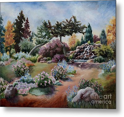 Metal Print featuring the painting Little Eden by Brenda Thour