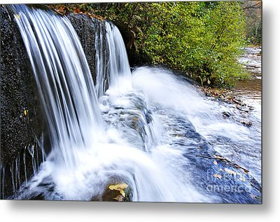 Little Elbow Waterfall And Williams River Metal Print by Thomas R Fletcher