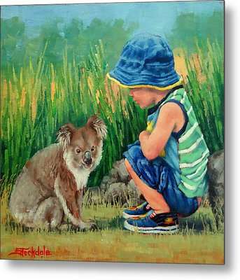 Little Friends Metal Print by Margaret Stockdale