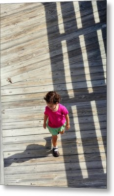 Little Girl Pink Metal Print by Rose  Hill