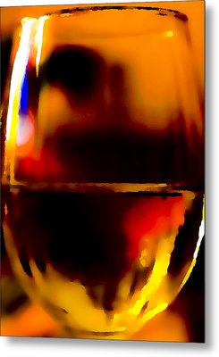 Little Glass Of Wine Metal Print by Stephen Anderson