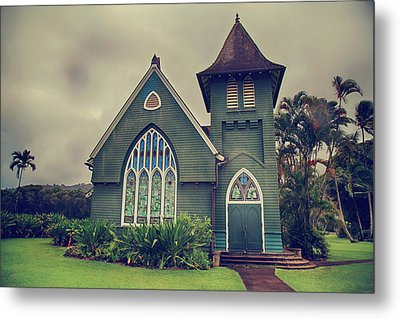 Little Green Church Metal Print