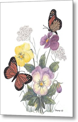 Little Heartsease Metal Print by Stanza Widen