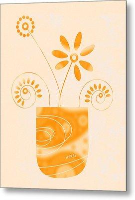 Little Herb Garden Metal Print by Frank Tschakert