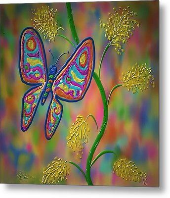 Little Hip Butterfly Metal Print by Kevin Caudill