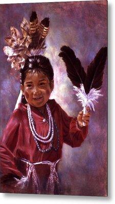 Little Hopi Dancer Metal Print by Ann Peck